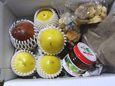 パッションフルーツ、クッキー、蜂蜜、黒糖