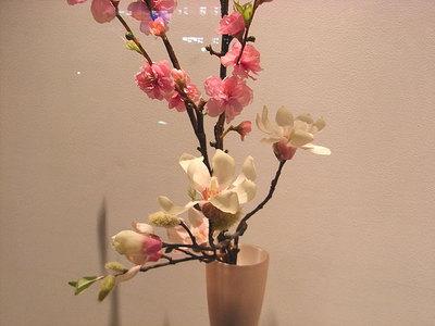 花桃と辛夷