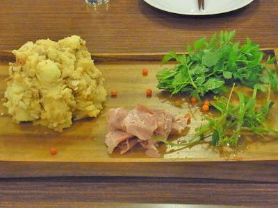 アカモミタケとジャガイモのマッシュ