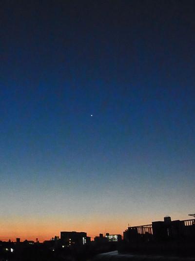 明け方の空