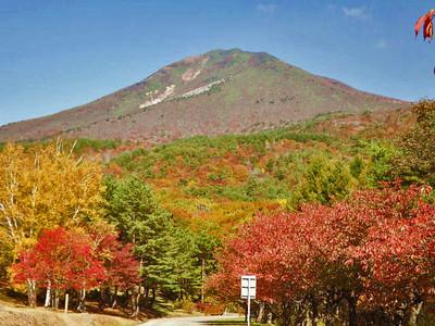 天鏡台からの磐梯山