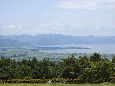 天鏡台からの猪苗代湖の眺め