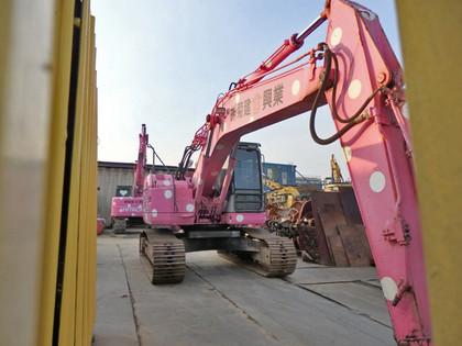 ピンクの重機