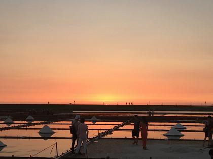 塩田の夕景