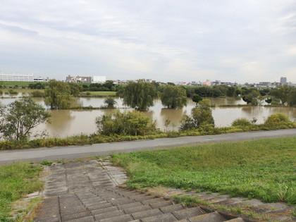 水没したゴルフ場