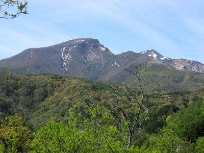 川上登山口からの裏磐梯の眺め