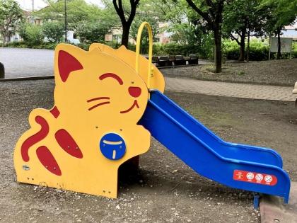 ネコ型すべり台