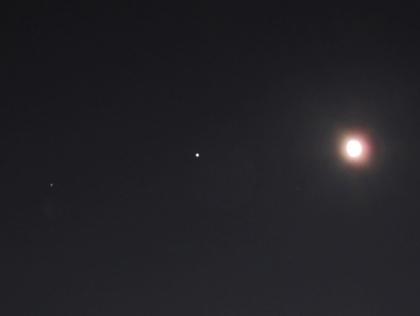 月と木星と土星
