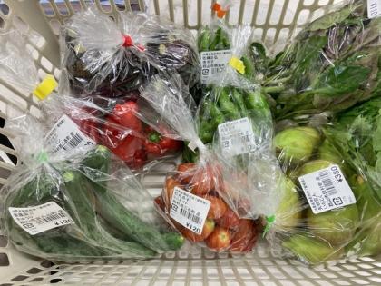 直売所で買った野菜類